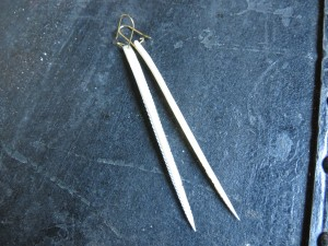 Stingray barb earrings